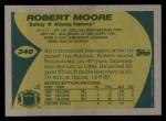 1989 Topps #340  Robert Moore  Back Thumbnail