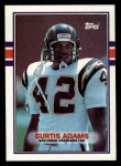 1989 Topps #312  Curtis Adams  Front Thumbnail