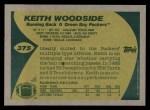 1989 Topps #375  Keith Woodside  Back Thumbnail