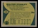 1989 Topps #381  Walter Stanley  Back Thumbnail