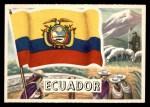 1956 Topps Flags of the World #61   Ecuador Front Thumbnail