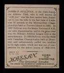 1910 T218 Champions #56  James P. Sullivan  Back Thumbnail