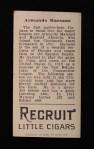 1912 T207  Armando Marsans    Back Thumbnail