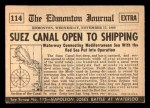 1954 Topps Scoop #114   Suez Canal Opened Back Thumbnail