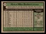 1979 Topps #172  Mike Bruhert  Back Thumbnail