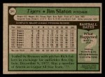 1979 Topps #541  Jim Slaton  Back Thumbnail