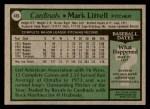 1979 Topps #466  Mark Littell  Back Thumbnail