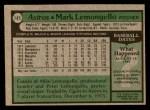 1979 Topps #187  Mark Lemongello  Back Thumbnail