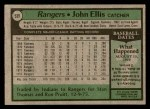 1979 Topps #539  John Ellis  Back Thumbnail