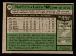 1979 Topps #199  Larry Milbourne  Back Thumbnail
