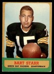1963 Topps #86  Bart Starr  Front Thumbnail