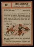 1962 Topps #121  Jim Schrader  Back Thumbnail