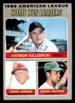 1970 Topps #66   -  Reggie Jackson / Harmon Killebrew / Frank Howard AL HR Leaders Front Thumbnail