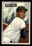 1951 Bowman #198  Monte Irvin  Front Thumbnail