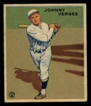 1933 Goudey #233  Johnny Vergez  Front Thumbnail