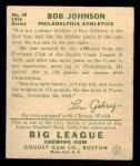 1934 Goudey #68  Bob Johnson  Back Thumbnail