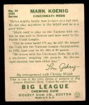 1934 Goudey #56  Mark Koenig  Back Thumbnail