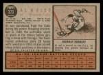 1962 Topps #373  Al Heist  Back Thumbnail