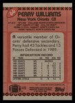 1990 Topps #66  Perry Williams  Back Thumbnail