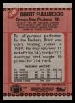 1990 Topps #145  Brent Fullwood  Back Thumbnail