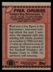 1990 Topps #406  Paul Gruber  Back Thumbnail
