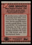 1990 Topps #416  Chris Singleton  Back Thumbnail