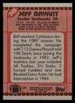 1990 Topps #345  Jeff Bryant  Back Thumbnail