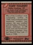 1990 Topps #484  Tony Tolbert  Back Thumbnail