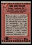 1990 Topps #491  Jim Jeffcoat  Back Thumbnail