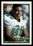 1991 Topps #216  Clyde Simmons  Front Thumbnail