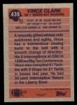1991 Topps #439  Vinnie Clark  Back Thumbnail