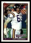 1991 Topps #384  Gary Zimmerman  Front Thumbnail