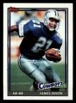 1991 Topps #363  James Dixon  Front Thumbnail