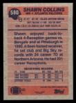 1991 Topps #580  Shawn Collins  Back Thumbnail