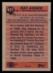 1991 Topps #621  Ray Agnew  Back Thumbnail