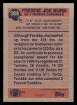 1991 Topps #506  Freddie Joe Nunn  Back Thumbnail