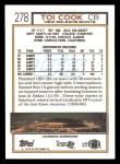 1992 Topps #278  Toi Cook  Back Thumbnail
