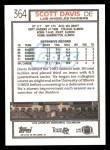 1992 Topps #364  Scott Davis  Back Thumbnail