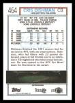 1992 Topps #464  Cris Dishman  Back Thumbnail