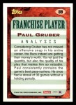 1993 Topps #89  Paul Gruber  Back Thumbnail