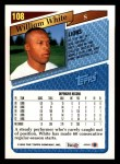 1993 Topps #108  William White  Back Thumbnail