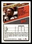 1993 Topps #145  Mike Pritchard  Back Thumbnail