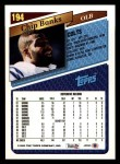 1993 Topps #194  Chip Banks  Back Thumbnail