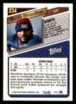 1993 Topps #234  Keith Hamilton  Back Thumbnail