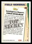 1993 Topps #297   -  Chris Spielman Field Generals Back Thumbnail