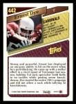 1993 Topps #442  Ernest Dye  Back Thumbnail