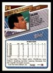 1993 Topps #318  Ray Childress  Back Thumbnail