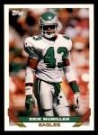 1993 Topps #418  Erik McMillan  Front Thumbnail