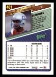 1993 Topps #401  Ferrell Edmunds  Back Thumbnail