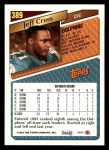 1993 Topps #389  Jeff Cross  Back Thumbnail